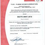 FAD SpA ISO TS 29001 exp. Jan 2022